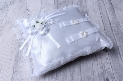 Подушка под кольца белая  06198