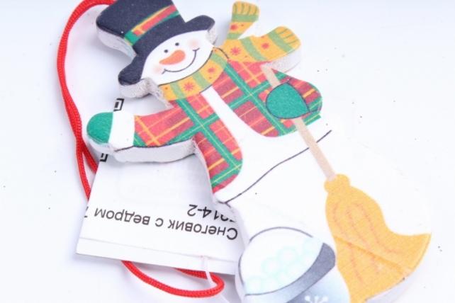 Подвеска Снеговик с ведром