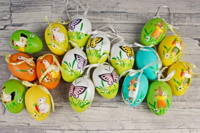 Подвеска яйцо 6 см в тубе по 6 шт  998C-1260 MIX