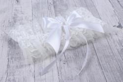 Подвязка невесты белая   05162