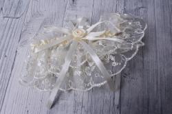 """Подвязка невесты """"Снежинка"""" айвори 05287"""