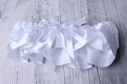 """Подвязка невесты """"Весна"""" белая 05297"""