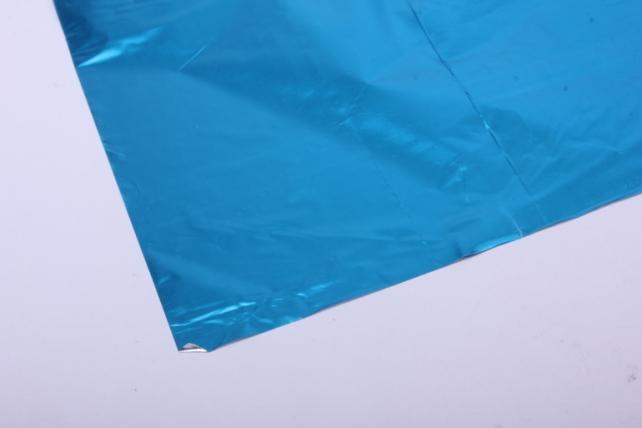 полисилк (1м*20м) в рулоне бирюзовый/серебро
