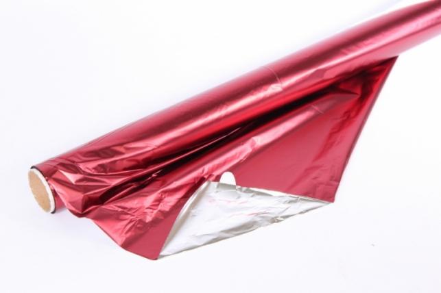 Полисилк (1м*20м) в рулоне Бордовый/Серебро
