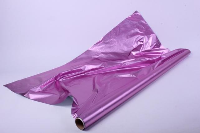 Полисилк (1м*20м) в рулоне Цикламен/Серебро