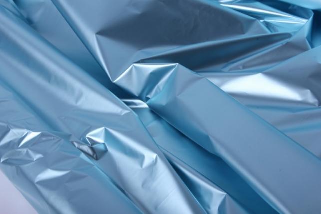 полисилк (1м*20м) в рулоне голубой/серебро