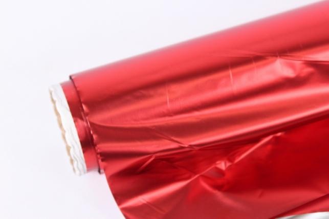 полисилк (1м*20м) в рулоне красный/серебро