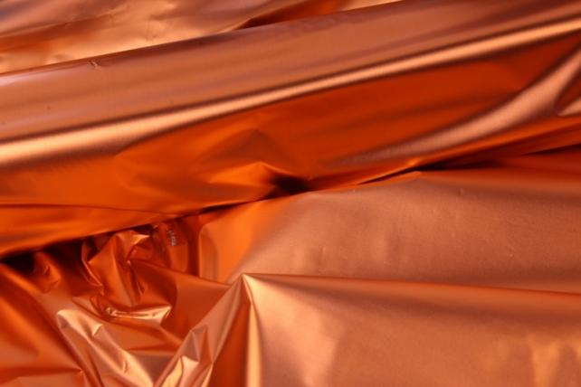 полисилк (1м*20м) в рулоне оранжевый/серебро