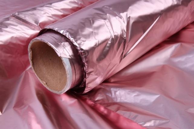 Полисилк (1м*20м) в рулоне Розовый/Розовый