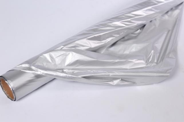 Полисилк (1м*20м) в рулоне Серебро/Серебро