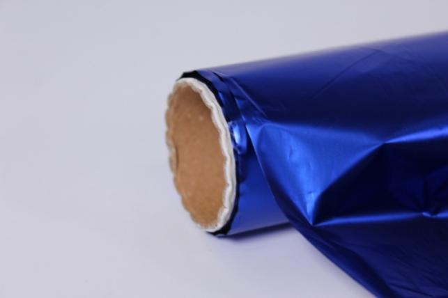 полисилк (1м*20м) в рулоне синий/серебро