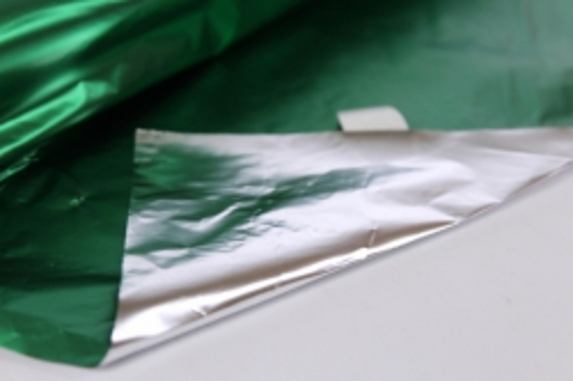 полисилк (1м*20м) в рулоне зеленый/серебро