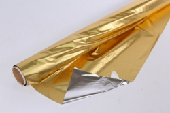 полисилк (1м*20м) в рулоне золото/серебро