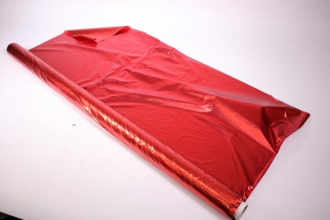 полисилк (1м*50м) металл в рулоне - красный/красный