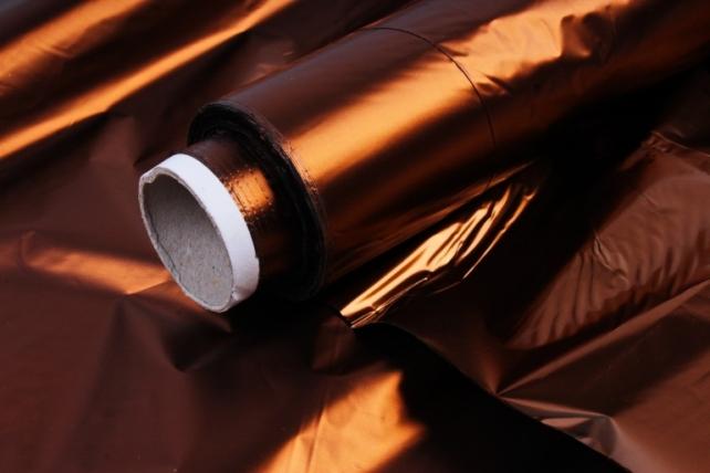 Полисилк металл в рулоне (1м*50м) Коричневый/Коричневый