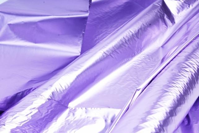 Полисилк металл в рулоне (1м*50м) Лиловый/Лиловый