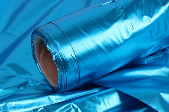 Полисилк металл в рулоне (1м*50м) Бирюзовый/Бирюзовый
