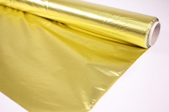 полисилк металл в рулоне (1м*50м) жёлтый-жёлтый