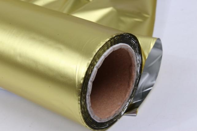 Полисилк металл в рулоне (1м*50м) Жёлтый/Серебро
