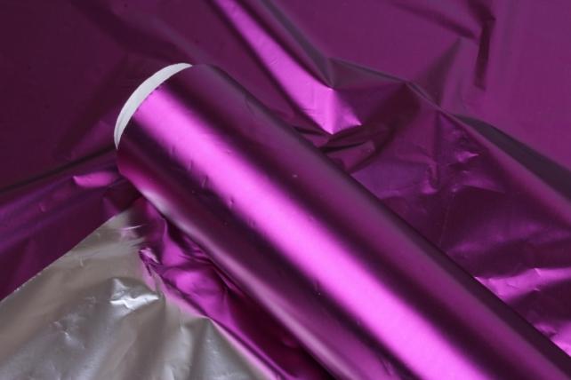 полисилк металл в рулоне (1м*50м) сливовый/серебро