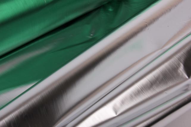 полисилк металл в рулоне (1м*50м) зеленый/серебро