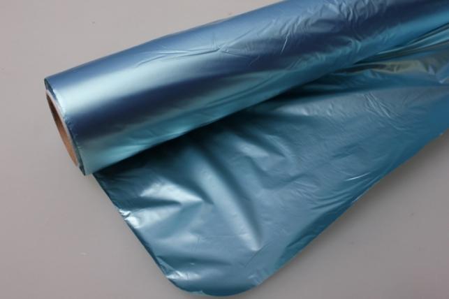Полисилк металл в рулоне (1м х 50м) Голубой