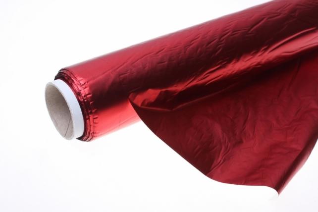 Полисилк металл в рулоне (1м х 50м) микс - Красный