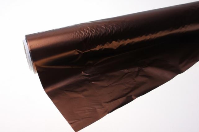 Полисилк металл в рулоне (1м х 50м) микс - Шоколадный
