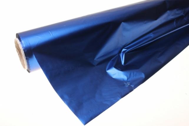 Полисилк металл в рулоне (1м х 50м) микс - Синий