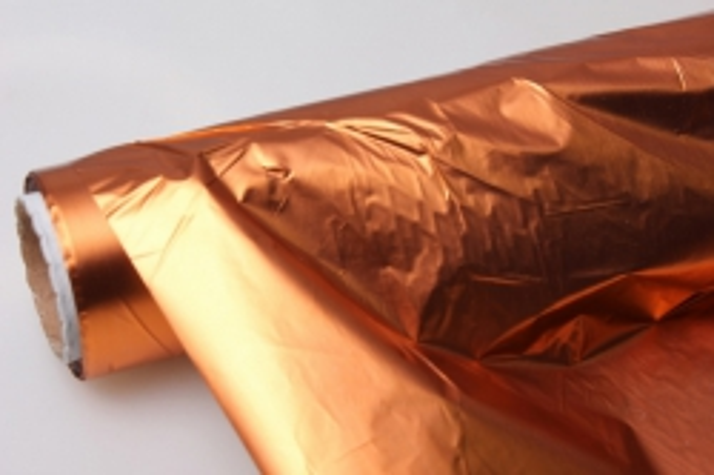 Полисилк металл в рулоне (1м х 50м) - Оранжевый