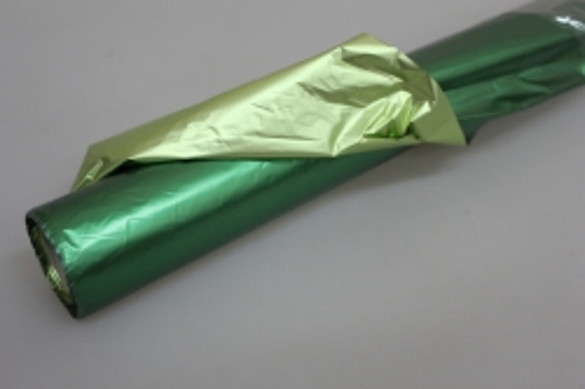 Полисилк металл в рулоне (1м х 50м) Зеленый/Салатовый
