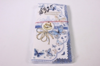 """Приглашение на свадьбу """"Бантик с бабочками"""" (10 шт в упаковке), 098.589"""