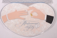 """Приглашение на свадьбу """"Сердце, кольцо на палец"""" (10 шт в упаковке), 098.492"""