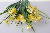 примула махровая желтая  букет - искусственные растения