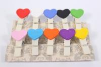 Прищепка Декоративная - Сердце (10шт. в уп.) - Код 8965