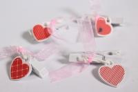 Прищепка Декоративная - Сердце (4шт. в уп.) - Код 3905