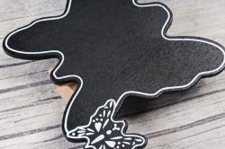 Прищепка табличка бабочка 6х5,5 см   (4шт в уп) 9DY7008 9875