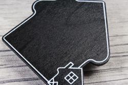 Прищепка табличка домик 6х5,5 см   (4шт в уп) 9DY7007 9868