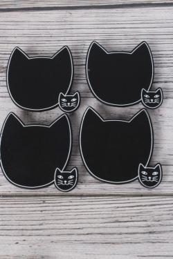 Прищепка табличка кошка 6х5,5 см   (4шт в уп) 9DY7009 9882
