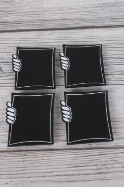 Прищепка табличка рамка 6х5 см   (4шт в уп) 9DY7005 9844