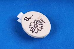 Прищепки Овал с цветком с декором 3,5см (6шт в уп)  2584