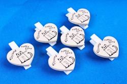 Прищепки с сердцем  (6 шт в уп) 8D9181