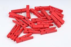 Прищепки 3,5см красные (20шт в уп)  9050   8S35CZ