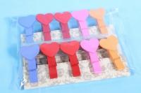 Прищепки в наборе 10шт Сердца DY105