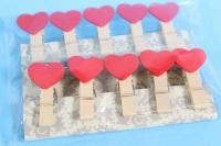Прищепки в наборе 10шт Сердца DY110