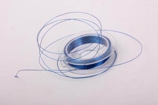 проволока 0,3мм синяя флористическая  (п-10-001)