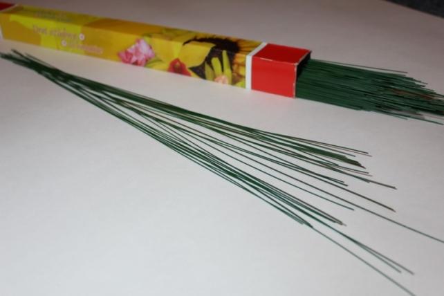 аксессуары для флористов - проволока для гербер 1кг. проволока  для гербер 1кг (1.2 мкм) 7096