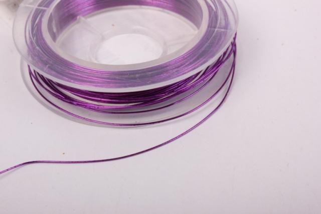 проволока фиолетовая флористическая  (п-10-021) - 0,3 мм.