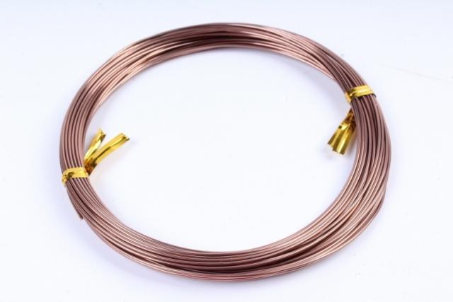 Проволока флористическая 0,8 мм*10м коричневый