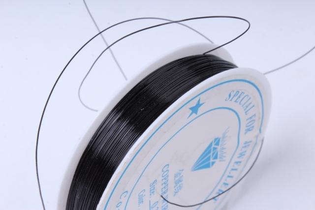 Проволока флористическая 0,4мм*50м Черная